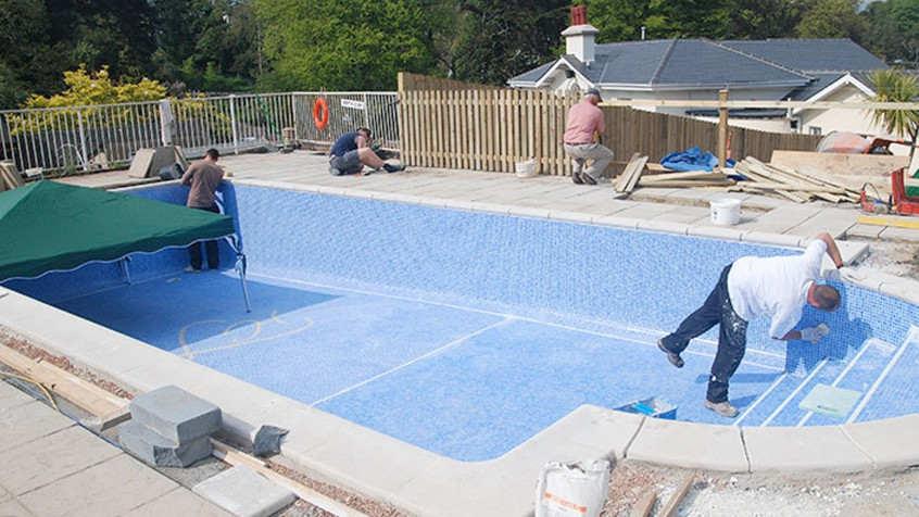 Pool installation fisher pools - Swimming pools in hamilton ontario ...