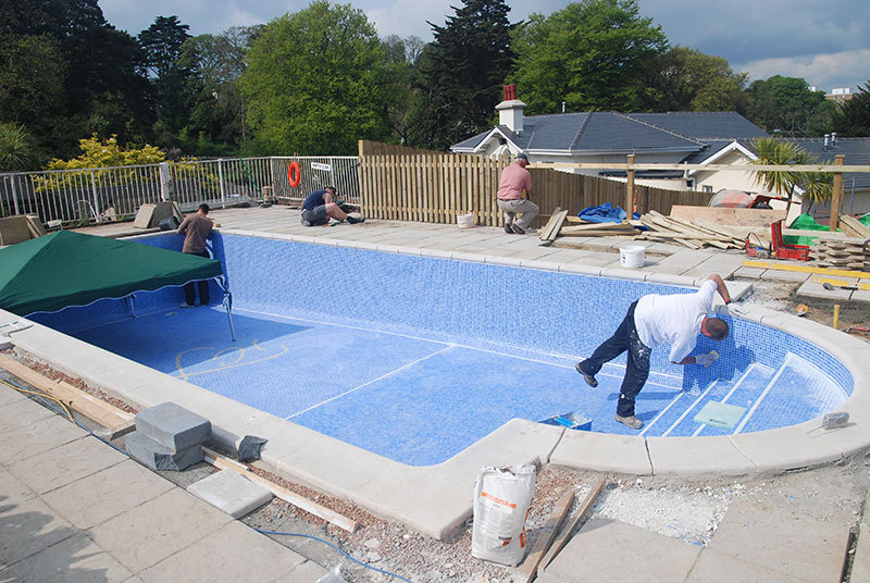 Replacing pool liners fisher pools for Installing pool liner in cold weather